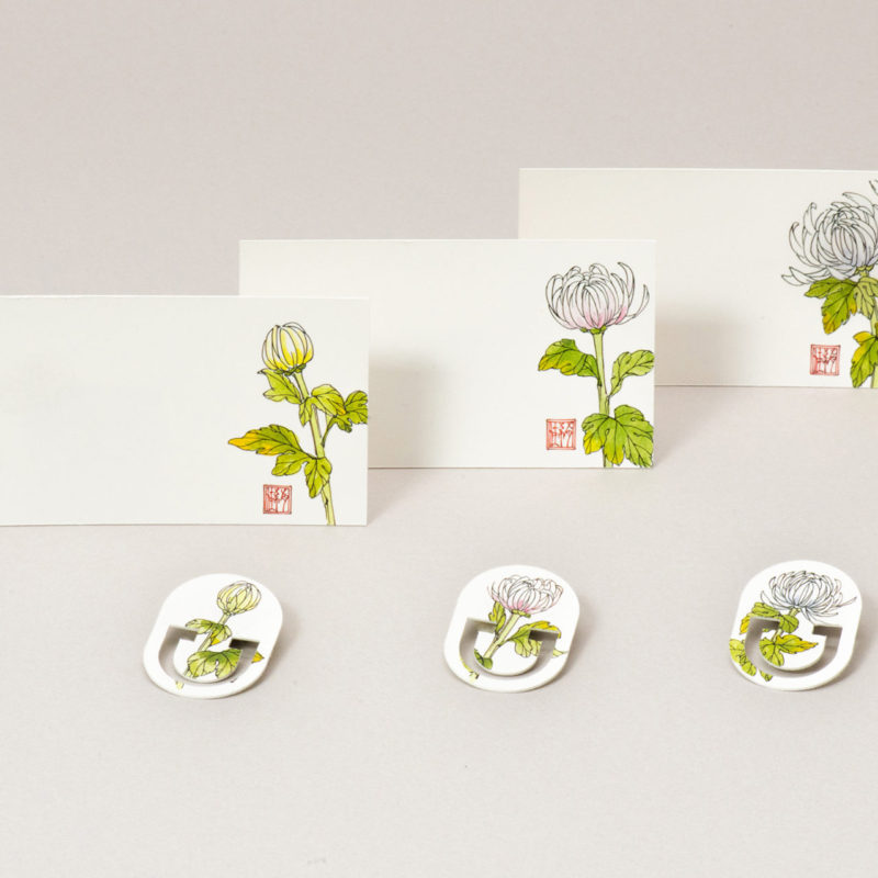 MESSAGE CARD&PAPER CLIP【菊】作家/柴田有希佳