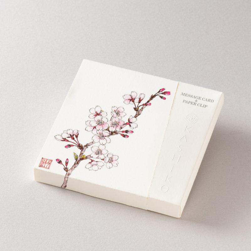 MESSAGE CARD&PAPER CLIP【桜】作家/柴田有希佳
