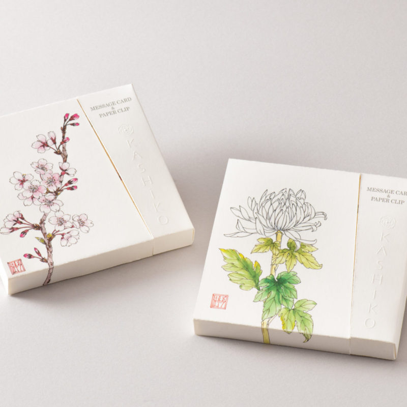 MESSAGE CARD&PAPER CLIP桜/菊」新発売プレスリリース