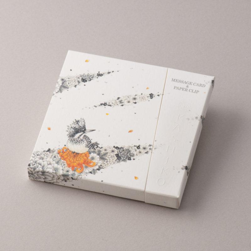 MESSAGE CARD&PAPER CLIP【山翡翠/ヤマセミ】作家/河田 里美